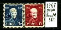 IRLANDA - EIRE -year 1957 - Complet  Set -usato -used . - 1949-... Repubblica D'Irlanda