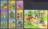DISNEY -DOMINICA 1984-  Yvert#785/93 H86 Precio Cat€24 - Disney