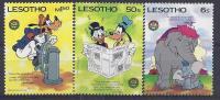 DISNEY -LESOTHO 1986-  Yver#657/59 Precio Cat€7 - Disney