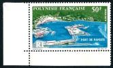 POLYNESIE 1966 - Yv. PA 20 ** TB Cdf  Cote= 21,00 EUR - Port De Papeete ..Réf.POL22629 - Poste Aérienne