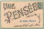 SAINT AIGNAN - Une Pensée De... - Carte En L'état - Saint Aignan