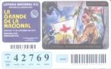 LA GRANDE DE LA NACIONAL - LOTTERY TICKET - BILLETE DE LOTERIA - 12 DE OCTUBRE CONMEMORACION DIA DEL RESPETO A LA DIVERS - Lottery Tickets