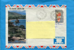Marcophilie-lettre- NLLE CALEDONIE- Pour Françe-cad POUEBO 1985- Stamps-N°499 Coquillage Conus - Briefe U. Dokumente