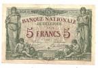 Belgium 5 Francs 1914 - [ 2] 1831-... : Belgian Kingdom