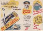 """Capitaine COOK - """"Ses Harengs Et Ses Maquereaux Marinés """" (recto/verso) - Publicités"""