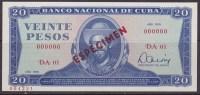 1978-BK-7 CUBA 1978 20$ CAMILO CIENFUEGOS SPECIMEN UNC. - Cuba