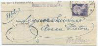 1945 LUOGOTENENZA IMPERIALE L.1 ISOLATO PIEGO COMUNALE 12.9.45 DA IGLESIAS (SARDEGNA) TIMBRO ARRIVO  OTTIMA QUALITÀ(A628 - 5. 1944-46 Luogotenenza & Umberto II