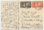 1941 FRATELLANZA C. 10+20 CARTOLINA ILL. PUNTA S. VIGILIO  DA RIVA 11.1.42 SPLENDIDA QUALITÀ (A625) - Storia Postale