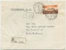 1956 DECENNALE L. 80 ISOLATO BUSTA 30.6.56  TARIFFA LETTERA RACC.OMANDATA CON TIMBRO DI ARRIVO (6650) - 1946-60: Storia Postale