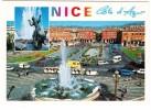 Nice: Le MINI-TRAIN Touristique, CITROËN CX AMBULANCE & BX, RENAULT 4-COMBI & ESTAFETTE - Fontaine - (France) - Toerisme