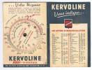 Dépliant Publicitaire   Disque Tournant  Kervoline    18 Cm  X  13.3 Cm  Déplié - Advertising