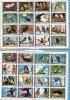 OISEAUX-BIRDS-2  Feuiilles De 16 Stamps=32 Timbres Oblitérés -poissons Tous Différents-cad 1973 Umm Al Qiwain - Collections, Lots & Series