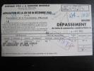 Imprimé Du Secrétariat D' État À La Production Industrielle : Dépassement Des Limite De Consommation D' Électricité, 43 - Vieux Papiers