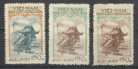 VIETNAM..1957..Michel # 21 I,21 II,22 I..Dienstmarken..MNH...MiCV - 37 Euro. - Vietnam