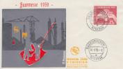 Enveloppe  1er  Jour  SARRE   7éme    Foire  Internationale   SAARBRÜCKEN    1959 - FDC