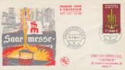Enveloppe  1er  Jour  SARRE  4éme    Foire  Internationale   SAARBRÜCKEN    1956 - FDC
