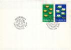 Denemarken - FDC 2-2-1977 - Gemeenschappelijke Uitgave: NORDEN Umweltschutz/Milieubescherming - M 635-636 - Gezamelijke Uitgaven