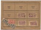 BARCELONA 1940 TARJETA PLATO UNICO CON CUPONES DE DIFERENTE VALOR - Documentos Antiguos
