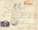 1928 LETTERA RACCOMANDATA CON ANNULLO VENZONE UDINE  + AMBULANTE TARVISIO VENEZIA - Storia Postale