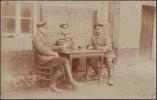 Allemagne. Carte Postale, Photo. Soldats Jouant Aux Cartes, Skat - Cartes à Jouer