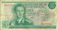 N1694 - Luxembourg: 10 Francs 1967 - Luxembourg