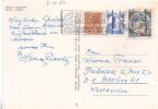 CASTELLI BOBINA Lire 200 SU CARTOLINA DI MERANO DEL 1981 PER LA GERMANIA (RL1647) - 1946-.. République