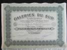 Action 250 Frs Societe Anonyme Galeries Du Sud Siège Social à Paris 1933 Share Coupons - Actions & Titres
