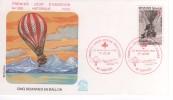 FRANCE PREMIER JOUR FDC 20 NOVEMBRE 1982 NANTES CROIX ROUGE CINQ SEMAINES EN BALLON   JULES VERNE - FDC