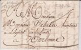 Marque Postale De Carcassonne (Aude) De 1785 PD 23X3,5  Tm4 - 1701-1800: Precursori XVIII