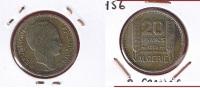 Algérie  --   20 Francs 1956  --   Km# 91   --    état  TTB+ - Algeria