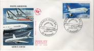 """Lettre Cachet Commémoratif 31 Blagnac 10.04.1999 """"AIRBUS A300-B4 Premier Jour"""" - Postmark Collection (Covers)"""