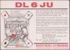 Allemagne 1966. Carte Postale Publicitaire, Radio. Dessin. Joueurs De Cartes (skat). Rainer Mathei, Paderborn - Cartes à Jouer