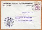 Enveloppe Brief Cover Administration Communale De Sars-la-Bruyère - Covers & Documents