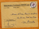 Enveloppe Brief Cover Administration Communale D'Opont - Lettres & Documents