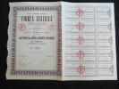Action 500 Frs Societe Anonyme Française Fibres Textiles Share Coupons Siege Social Paris 28/11/1933 - Actions & Titres