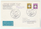 1988 EAST GERMANY Special FLIGHT COVER LEIPZIG  AUSTRIAN AIRLINES To Vienna AUSTRIA Aviation Ddr Stamp Returned Airmail - Airplanes