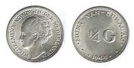 N1745 - Curaçao: Wilhelmina: 1/4 Gulden 1944 - Curacao