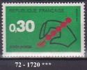 FRANCE Année 1972 N° 1719  NEUF *** - Nuovi