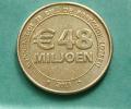 "Jeton De Loterie - ""€48 Miljoen - Postcode Loterij"" Pays-Bas - Games Token - Euro - Casino"