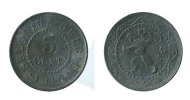 N1773 - Belgique: Albert I: 5 Centimes 1916 - 1909-1934: Albert I