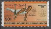 Burundi 1976 - Olimpiadi Di Montreal Olympic Games Ginnastica Gymnastics MNH ** - Burundi