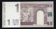 1 Euro, Typ A3 = Kurzes Bull-Horn, Entwurf, Test Note, RRRR, UNC,  Ca. 115 X 58 Mm, Essay, Trial - EURO