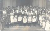 A IDENTIFIER INCONNU PUERA DE UNA IGLESIA EN UNA CEREMONIA MUY CONCURRIDA CIRCA 1920 A IDENTIFICAR CPA - Postkaarten