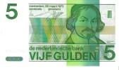 Netherlands - Pick 95 - 5 Gulden 1973 - Unc - [2] 1815-… : Regno Dei Paesi Bassi