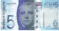 Scotland - Pick 124 - 5 Pounds 2007 - Unc ***LOW SERIAL*** RARE*** - Scozia