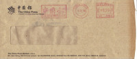 """16B: Malaysia Newspaper,press, Media,news,""""China Press"""",chinese Word Red Meter Stamp On Cover - Stamps"""