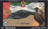 U.A.E.(chip) - Flag & Falcon, E-Dirham Telecard 300 Units, 03/03, Used - Ver. Arab. Emirate