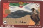 U.A.E.(chip) - Flag & Falcon, E-Dirham Telecard 200 Units, 11/02, Used - Ver. Arab. Emirate