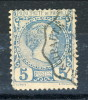 Monaco 1885 Principe Charles III Y&T N. 3 C. 5 Azzurro USATO - Monaco