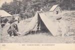 Thematiques Guerre 1914 918 CP Pub Javel Cotelle Croix Nos Diables Bleus Au Campement Bivouac Tente - Weltkrieg 1914-18